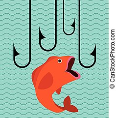 great fishing design - great fishing design, vector...