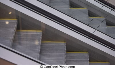Movement up and down the escalator.