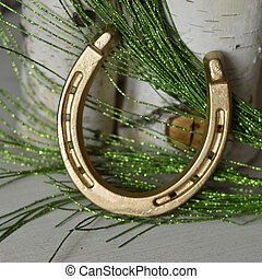 Lucky Metal Golden Horseshoe good Christmas gift