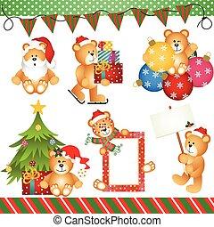 Christmas Teddy Bear Clipart Digita