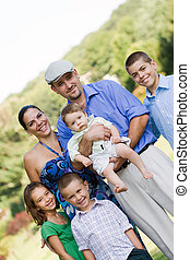 Happy Smiling Family - Portrait of an nice looking family...