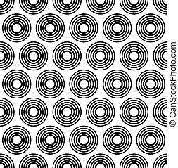 concéntrico, patrón, Plano de fondo, círculos, negro, blanco,  repeatable,  seamlessly