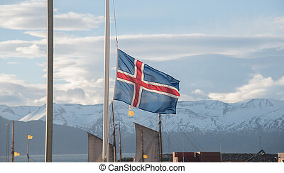 Iceland Flag in Husavik