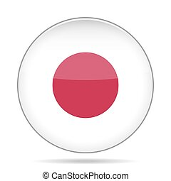 button with flag of Japan