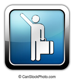 Icon, Button, Pictogram Arriving Flights