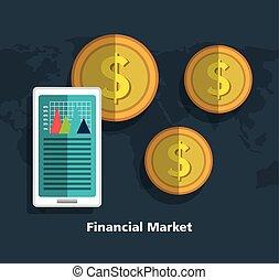 Financial market graphic design, vector illustration eps10