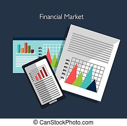 Financial market graphic design, vector illustration eps10