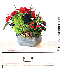 Christmas floral arrangement - Indoor Floral arrangement for...