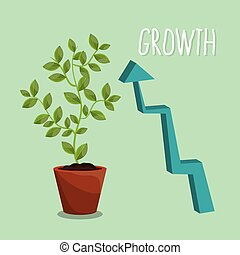 Nature plants growth graphic design, vector illustration...