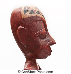 African souvenir. Man head. Wood.