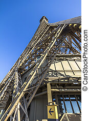 View of the Eiffel Tower from below