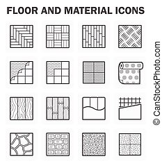 Floor icon - Floor and material icons