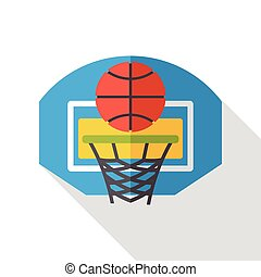 sport basketball flat icon