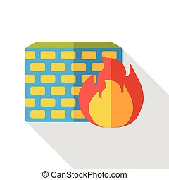 computer Firewall flat icon