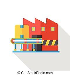 logistic warehouse flat icon