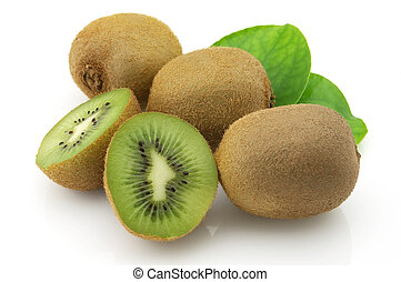 Kiwi with leaves - Sweet kiwi with leaves