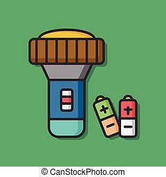 tool flashlight vector icon