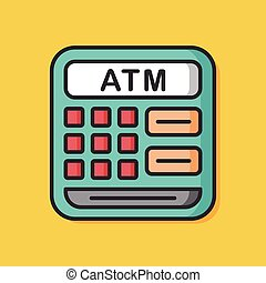 ATM machine vector icon