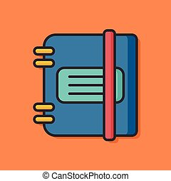 stationery vector notebook icon