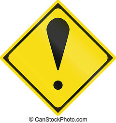 Japanese warning road sign - Other dangers