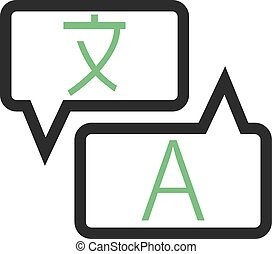 Translate, language, dictionary icon vector image. Can also...