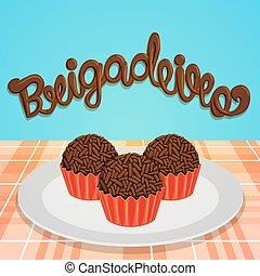 -,  brigadeiro, doce, Brasileiro