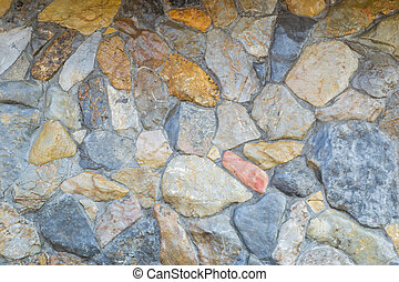 stones rocks pattern texture with cement background