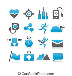 Health icon set - Flat Series