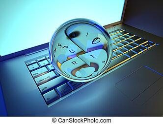 Crystal ball and computer