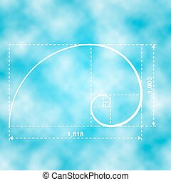 Golden proportion figure - Golden section, 2d vector...