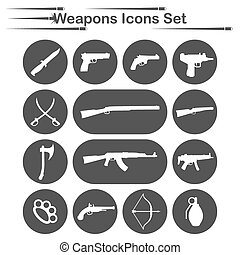 Weapon icons set