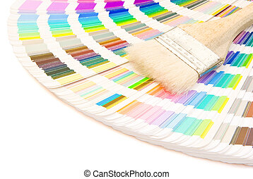 color guide and brush with clipping path