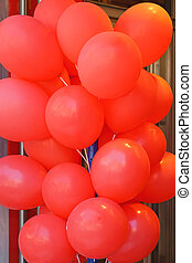 Ballons - Big bunch of red latex ballons