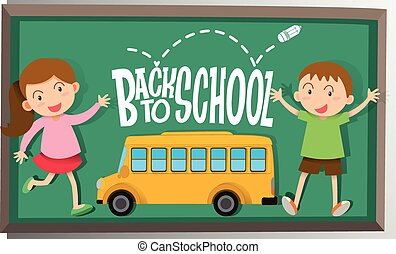 Girl and boy back to school