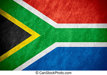 flag of South Africa or South African banner on canvas...