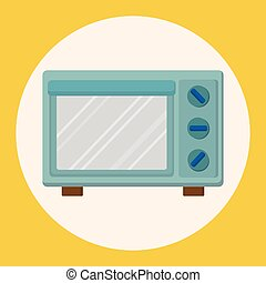 Kitchenware microwave oven theme elements