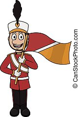 Marching band player cartoon vector