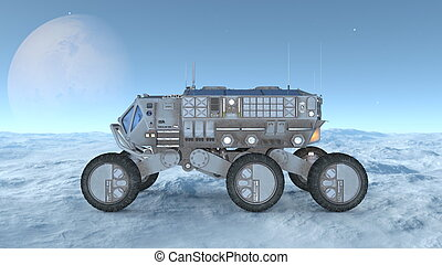 Space rover - 3D illustration of a space rover