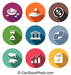 Loan Icons Set Vector Illustration - Isolated Flat Icons...