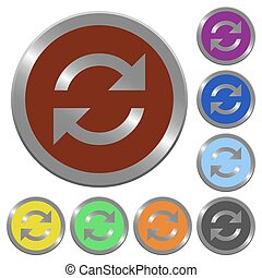 Color refresh buttons - Set of glossy coin-like color...