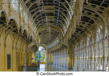 Main Spa Colonnade in Marianske Lazne. Neo-Baroque colonnade...