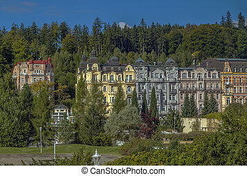 Marianske Lazne, Czech republic - view of Marianske Lazne...
