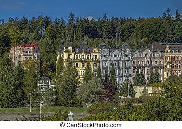 Marianske Lazne, Czech republic - view of Marianske Lazne...