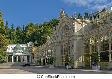 Main Spa Colonnade in Marianske Lazne - view of main...