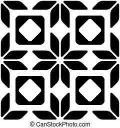 Seamless Geometric Ornament - Vector Abstract Seamless...