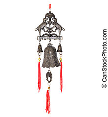Chinese wind bell isolated on the white background