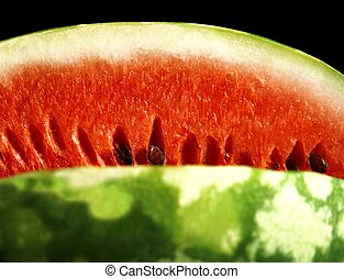 watermelon close up - appetizing watermelon isolated on...