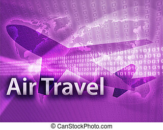 Online travel, illustration of electronic booking...