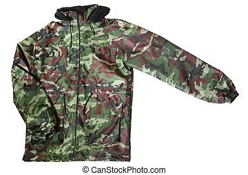 Camouflage jacket isolated on white background