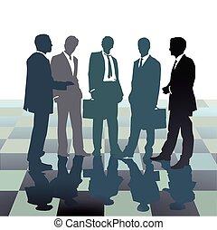 Mitarbeiter Zusammenkunft.eps - Staff meeting